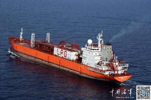 台湾海运船:感谢祖国海军护航 游子不再害怕