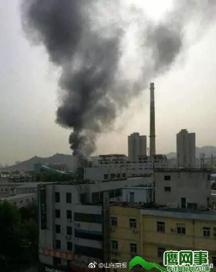 济南南郊热电厂突发火灾! 有明显爆炸声