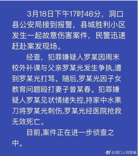 洞口县胜利小区发生杀人案件