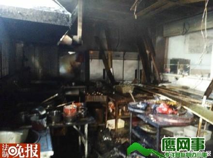 海淀区苏州街地铁站旁一餐馆起火
