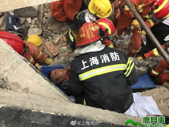 上海长宁区昭化路148号建筑厂房顶部坍塌
